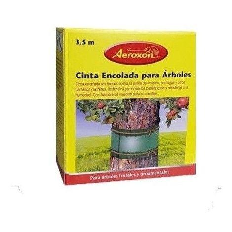 Cinta encolada AEROXON para el control de insectos en árboles y plantas
