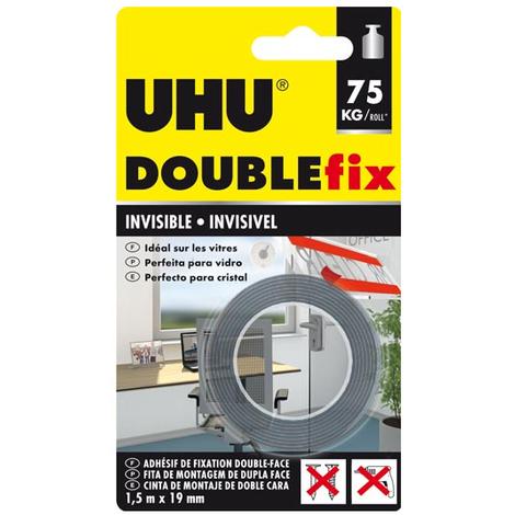 Cinta invisible de doble cara DOUBLEFIX UHU