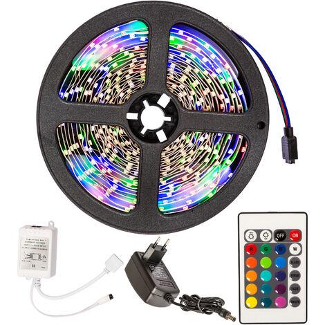 Cinta LED 5m 300 LEDs - tira de led con pila de litio, tira de luces led de bajo consumo energético, luminarias led de distintos colores - blanco