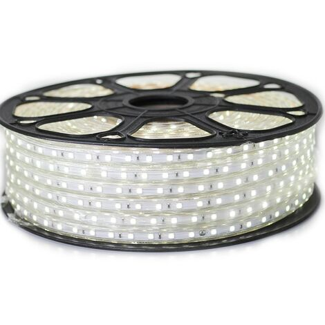 Cinta LED profesional 5050 60 LED/m de 25 o 50 metros Blanco Frío Impermeable (IP68)