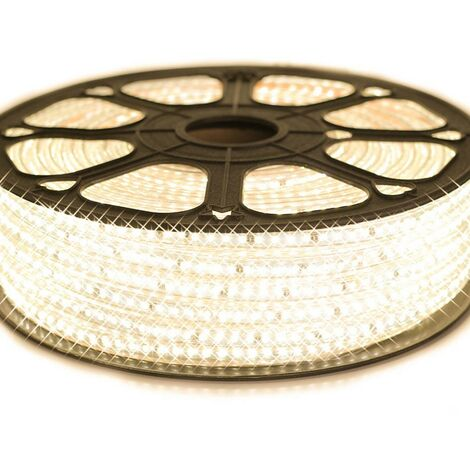 Cinta LED profesional EPISTAR 2835 120 LED/m de 25 o 50 metros blanco cálido impermeable (IP68)