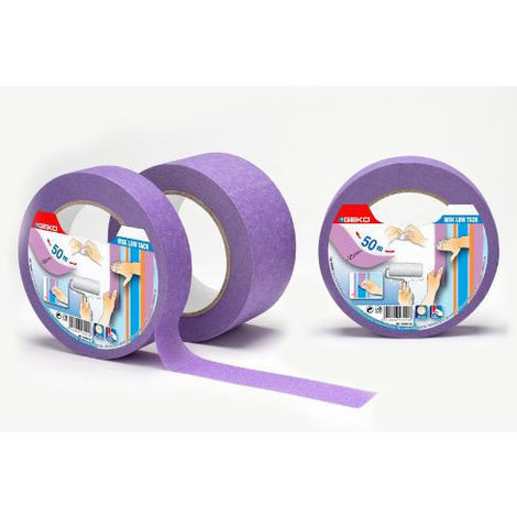 Cinta Masking Lila 25Mmx50Mts Baja Adhesividad Para Superficies Delicadas - NEOFERR