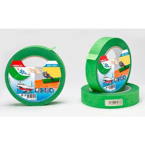 Cinta Masking Verde 25Mmx50M Resistente Uv Para Uso Exterior - NEOFERR