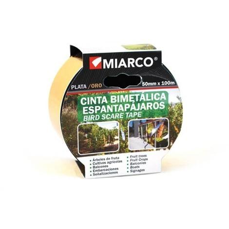 Cinta Metalica Oro/plata Espantapajaros - MIARCO - 19059 - 50MMX100MT