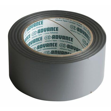 Cinta PVC adhesiva PLATA 33 m x 50 mm - ADVANCE : 110391