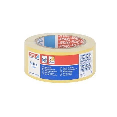 Cinta señalizacion adhesiva 33x50mm amarilla TESA