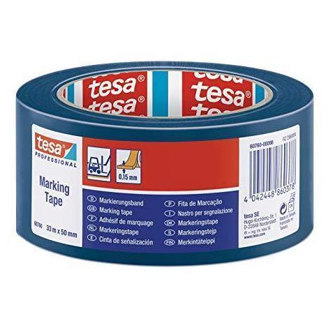 Cinta señalizacion adhesiva 33x50mm azul TESA