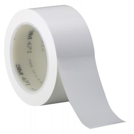 Cinta señalizacion adhesiva 764I 50mm x 33m blanca 3M