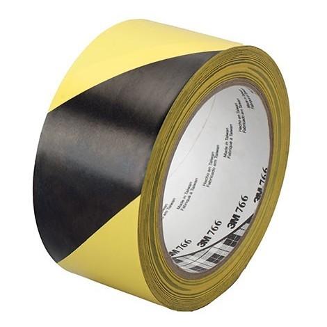 Cinta señalizacion adhesiva 766I 50mm x 33m amarilla/negra 3M