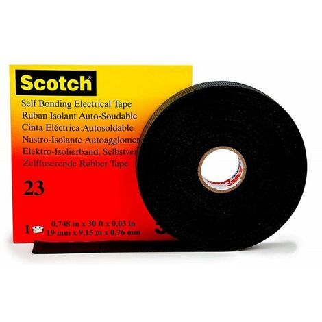 Cinta Vulcanizada autosoldable Scotch 23 9,15m x 19 mm de 3M