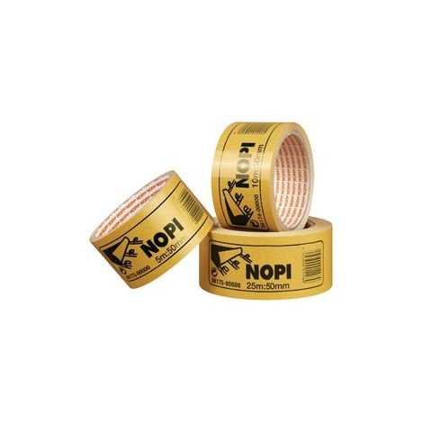 Cintas adhesivo doble cara nopifix de PP 50 mm x 5 m marrón (por 36)