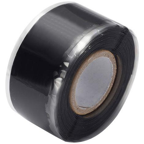Cintas autoadhesivas de aislamiento de sellado de caucho de silicona, 1.5m * 3cm,Negro