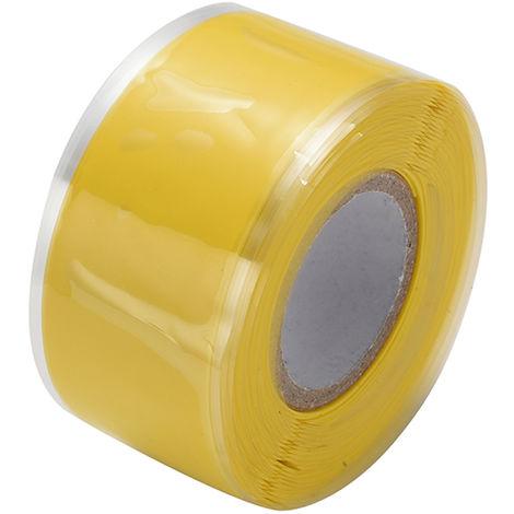 Cintas autoadhesivas de aislamiento de sellado de caucho de silicona, 3m * 3cm ,Amarillo