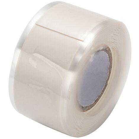 Cintas autoadhesivas de aislamiento de sellado de caucho de silicona, 3m * 3cm ,Blanco