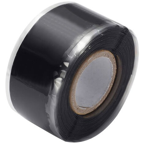 Cintas autoadhesivas de aislamiento de sellado de caucho de silicona, 3m * 3cm ,Negro
