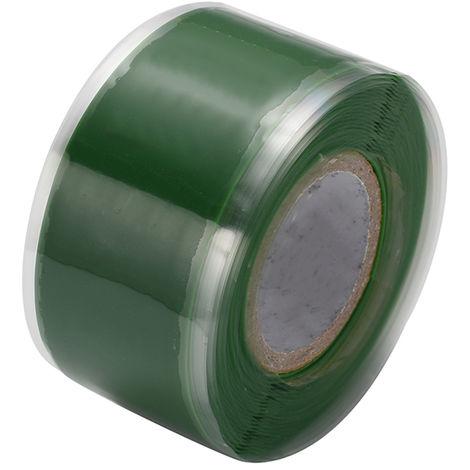 Cintas autoadhesivas de aislamiento de sellado de caucho de silicona,1.5m * 3cm,Verde