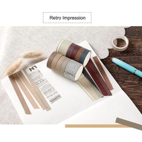 Cintas de la serie del sueno dulce de papel japones japones Scrapbooking rollos de cinta 2 metros para la decoracion Revistas libros de recuerdos del embalaje de regalo, impresion de la retro