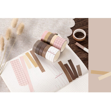 Cintas de la serie del sueno dulce de papel japones japones Scrapbooking rollos de cinta de 2 metros para la decoracion Revistas libros de recuerdos del embalaje de regalo, almuerzo en la hierba