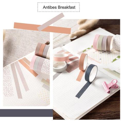 Cintas de la serie del sueno dulce de papel japones japones Scrapbooking rollos de cinta de 2 metros para la decoracion Revistas libros de recuerdos del embalaje de regalo, Antibes desayuno