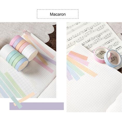 Cintas de la serie del sueno dulce de papel japones japones Scrapbooking rollos de cinta de 2 metros para la decoracion Revistas libros de recuerdos del embalaje de regalo, Macaron