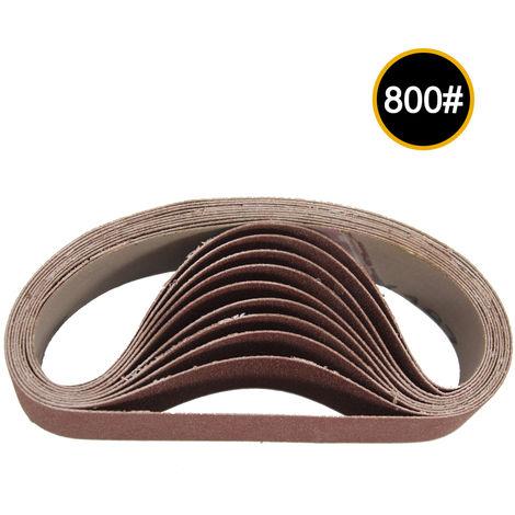 Cintas de lijado abrasivo de 30x330 mm, grano 800, 10 piezas