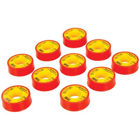 Cintas PTFE para sellar roscas, 10 pzas 12 mm x 5 m - NEOFERR