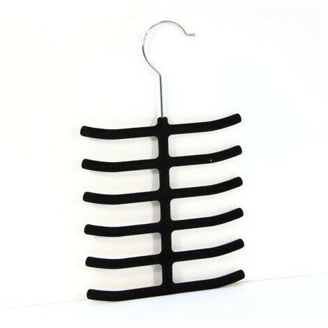 Cintre porte cravates ou accessoires en feutrine - Noir