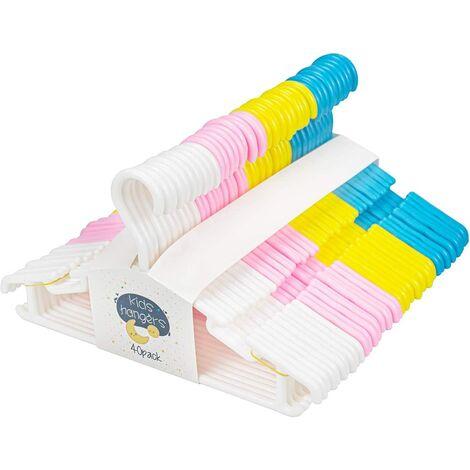 Cintres Enfants 40 Cintres Vêtements de Bébé Plastique de Stockage 28 cm