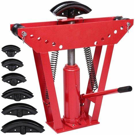 Cintreuse hydraulique, Presse à cintrer - pression 12 Tonnes avec 6 matrices OU pression 16 Tonnes avec 8 matrices