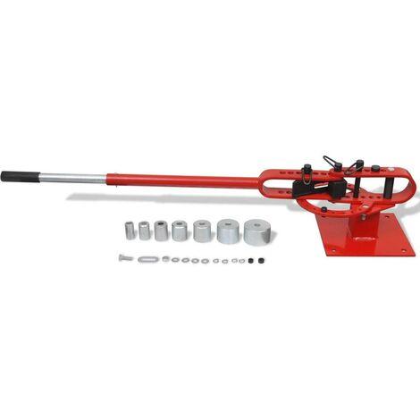 Cintreuse manuelle à fixer pour tube en acier outils garage atelier bricolage - Noir