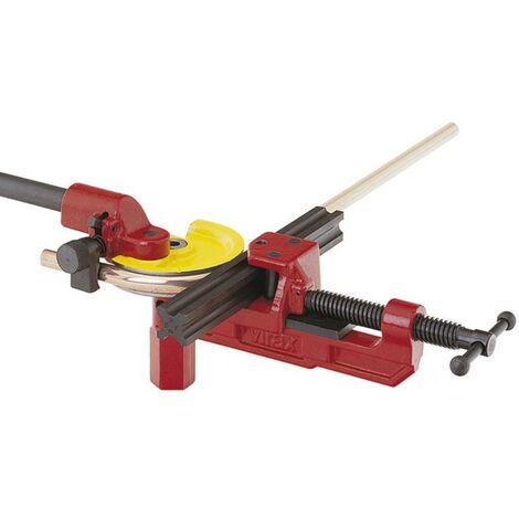 Cintreuse manuelle d'établi pour tube cuivre écroui avec glissière 4,3D Ø10 à 22 mm VIRAX - 250272