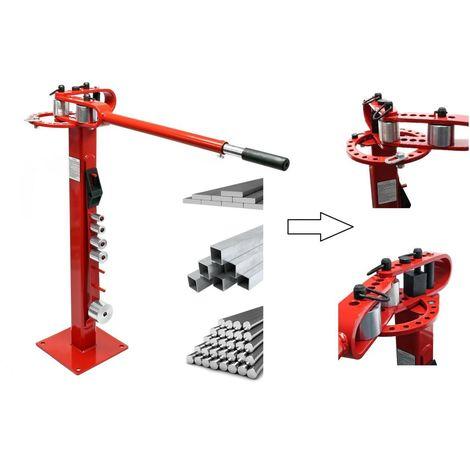 Cintreuse manuelle pour acier plat, rond ou carré - A fixer au sol