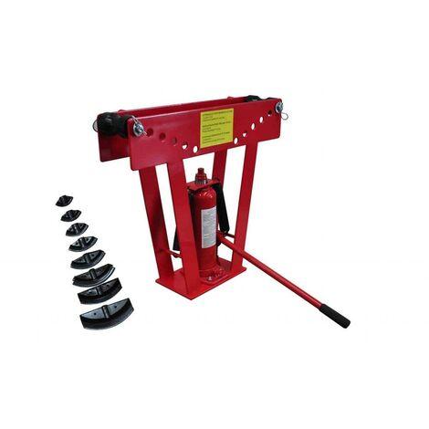 Cintreuse-Presse à cintrer hydraulique - 16 T + 8 matrices outils garage atelier bricolage