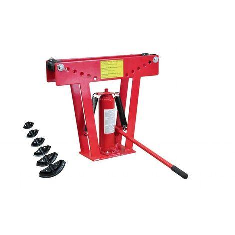 Cintreuse-Presse à cintrer hydraulique12 tonnes + 6 matrices outils garage atelier bricolage - Noir