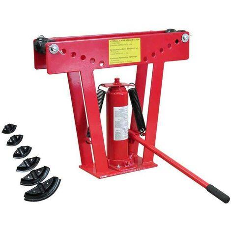 Cintreuse-Presse à cintrer hydraulique 12 T + 6 matrices HDV03463