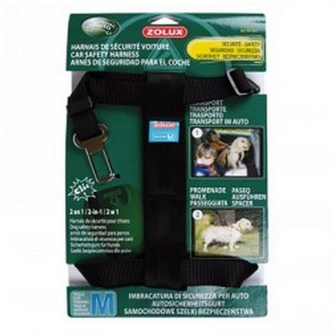 Cintura di Sicurezza a Pettorina per Auto per Cani SAFETY S (Zolux)