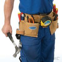 Cinturón portaherramientas doble con 11 bolsillos (300 x 200 mm)