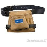 Cinturón portaherramientas y clavos con 8 bolsillos (260 x 230 mm)