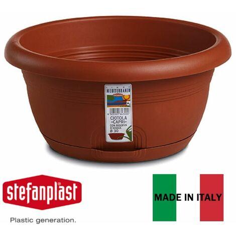 Ciotola Capri Con Riserva D/'acqua 20 Cm Vaso Per Piante E Fiori Stefanplast