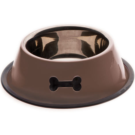 Pet Supplies Ciotola Con Interno In Acciaio Inox Pesante Ed Esterno Laccato Colorato Fuss-dog Dishes, Feeders & Fountains