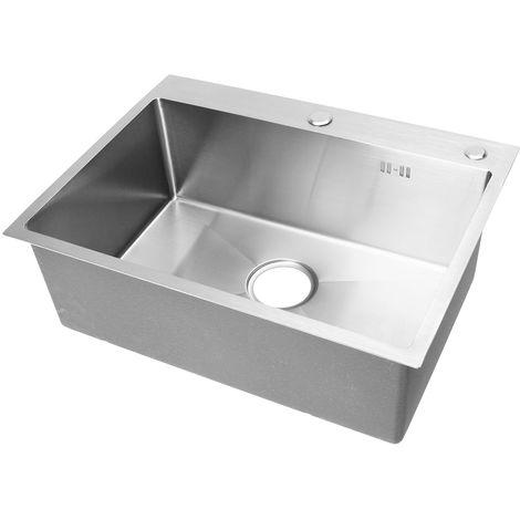 Ciotola per lavabo da 60x45 cm in acciaio inossidabile a montaggio singolo LAVENTE