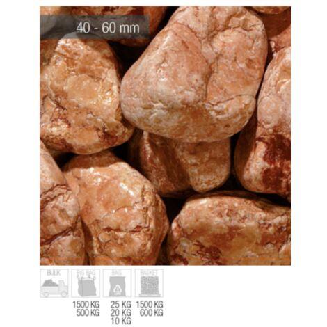 Ciottoli Marmo Rosso Verona 40/60 mm 25 kg sassi pietre arredo vasi e giardino