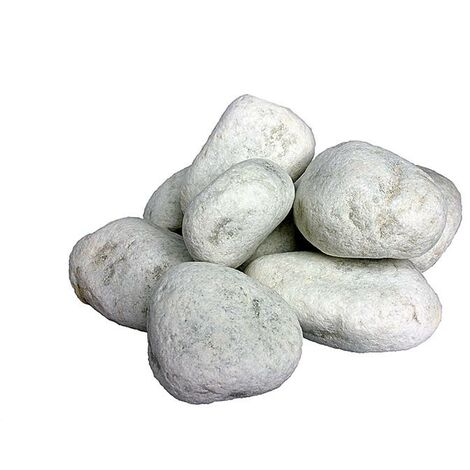 Ciottoli, sassi per giardino, Bianco Carrara