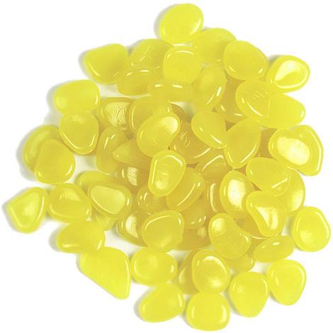 ciottoli, Serbatoio di pesce / giardino, 100 pezzi, giallo