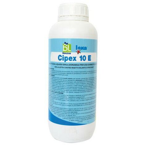 CIPEX 10E INSETTICIDA ADULTICIDA LIQUIDO A BASE DI CIPERMETRINA lt.1 INSETTI VOL