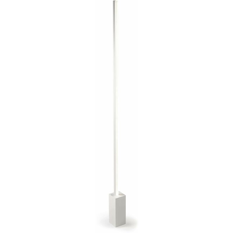 Image of Circ floor lamp, aluminum and PPMA, matt white