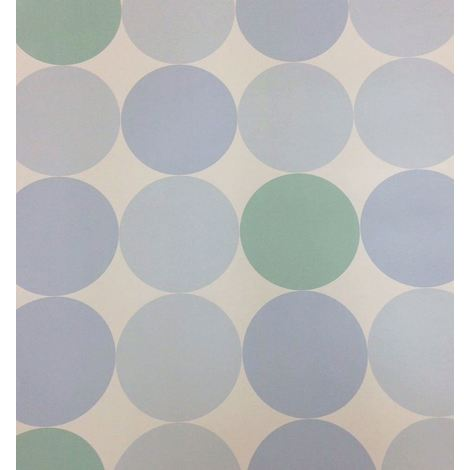 Circles Wallpaper Luxury Heavyweight Washable Paste The Paper White Blue Green
