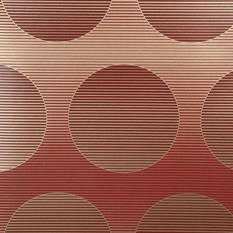 Circles Wallpaper Red Gold Metallic Horizontal Stripes Harlequin Retro