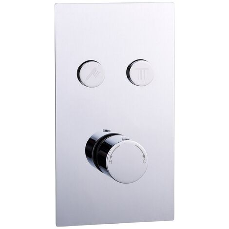 Circo Concealed Push Button Twin Shower Valve