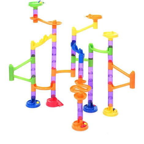 Circuit à billes HHG-202, toboggan à boules, jouet à 67 pièces, plastique, avec boules